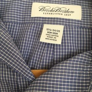 BROOKS BROTHERS White Grid Lines Blue Men's